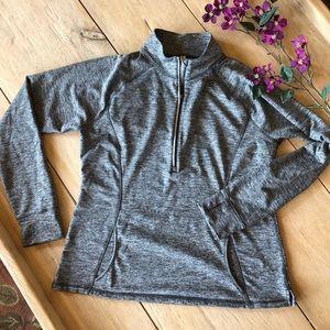 Lucy 1/2 zip kangaroo with thumb holes sweatshirt
